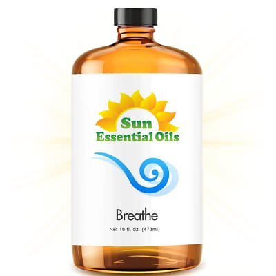 Best Breathe Essential Oil 100% Purely Natural Therapeutic Grade 16oz