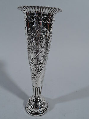 Victorian Vase - Pretty & Antique - English Sterling Silver - Comyns - 1892