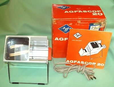 LIGHTED Film Slide VIEWER   AGFASCOP20  Mo  6734 With Box & Instructions Vintage