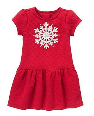 f6fdab64e56a7 NWT Gymboree HOLIDAY SHOP Red Silver Quilted Felt Silver Snowflake Dress Sz  4 5