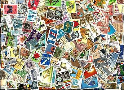 100 COMMONWEALTH   STAMPS selection mostly different off paper good used