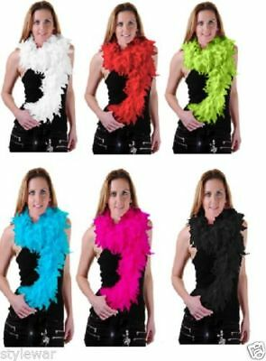LADIES 150 CM High Quality 50gm Feather Boa 20s Flapper Hen Night Fancy Dress
