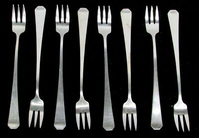Wallace Silversmiths Campania 1914 Sterling Silver 8 Cocktail Forks