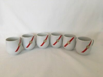 Vintage TWA ROYAL AMBASSADOR ROSENTHAL GERMANY LOT OF 6 ESPRESSO Demitasse CUPS
