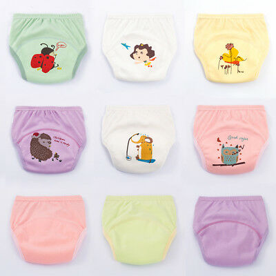 Cute Kids Baby Cloth Diaper Cover Nappy Cotton Underwear Training Pants Fit 1-6Y