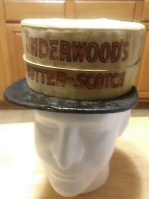 1920s Underwoods Butterscotch advertising candy store hat