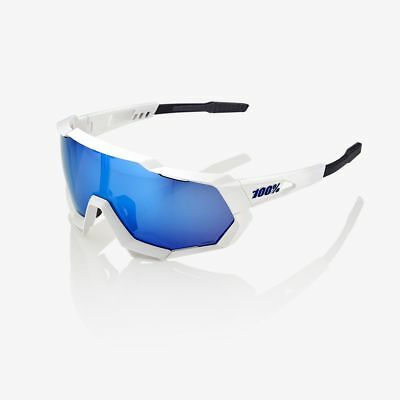 Ride 100% Speedtrap Hiper Iceberg Blue Mirror Lens Matte White
