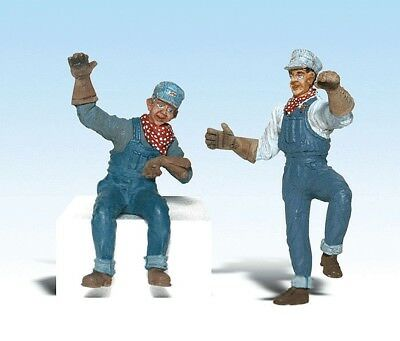 Woodland Scenics - Scenic Accents® Figures -- Earl & Eddie Engineer - G  - A2540