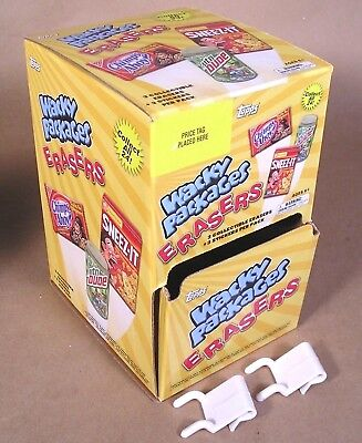 2011 Wacky Packages Erasers 1st Series 1 EMPTY DISPLAY BOX 2-392-03-02-0 w/hooks