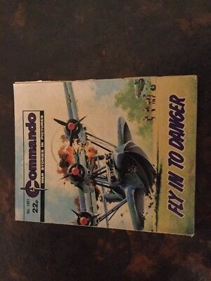 1. very old Commando war comic. 1851 Fly In To Danger