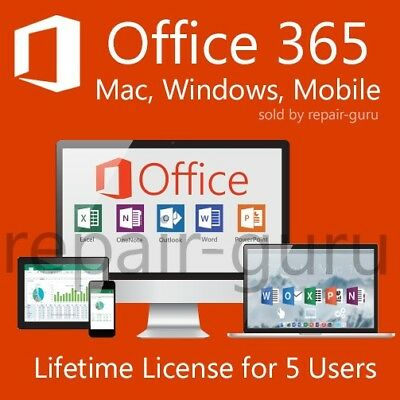 Microsoft Office 365 2016 - For Windows, Mac & Mobile - IMMEDIATE DELIVERY!