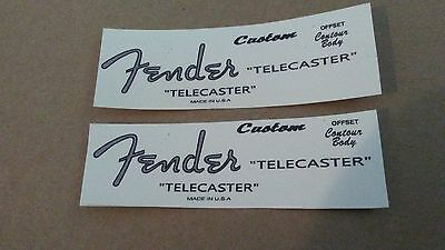 2 Vintage spaghetti style Custom T guitar headstock decal  logo