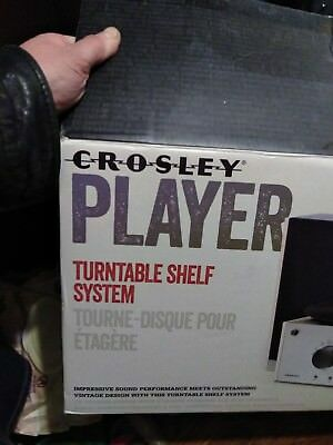 Crosley Player Turntable Shelf System With Speakers