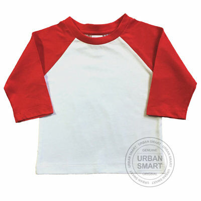 """Urban Smart"" Toddler & Baby Raglan Blanks - Boy, Girl & Infant Baseball Shirts"