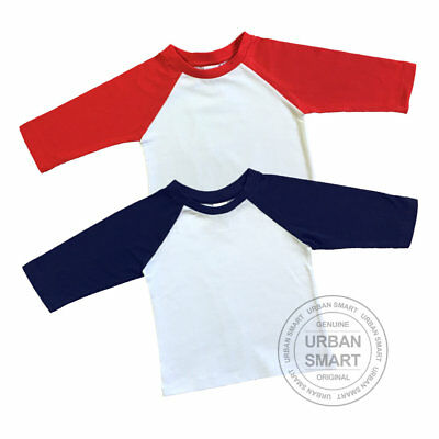 "2-Pack ""Urban Smart"" Toddler & Baby Raglan Blanks - Boy & GIrl Baseball T Shirts"