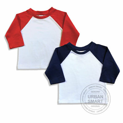 "2-Pack ""Urban Smart"" Toddler & Baby Raglan Blanks - Boy & Girl Baseball Shirts"