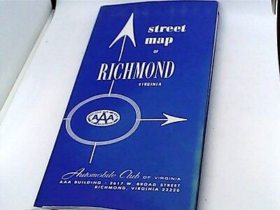 Vintage Street Map of Richmond Virginia AAA