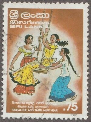 Sri Lanka Sinhalese And Tamil New Year Denomination 0.75 Issued 1987 Used Stamp