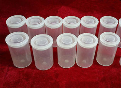 10PCS Transparent Empty bottle 35mm film cans canisters containers