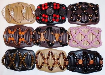"Double Magic Hair Combs, Angel Wings Clips 4x3.5"", African Butterfly, Quality S7"