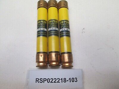 Lot Of 3, Bussmann Lps-Rk-10Sp Low-Peak Fuses 10A 600V Class Rk1 Nnb