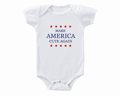 Make America Cute Again Donald Trump Onesie or T-Shirt