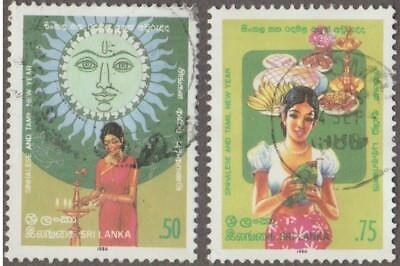 Sri Lanka Sinhalese And Tamil New Year 0.50 And 0.75 Issued 1986 Used Part Set