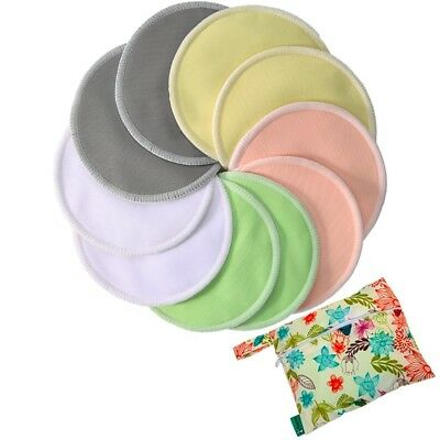 Bamboo Nursing Pads- 10 Pack with Carry Bag