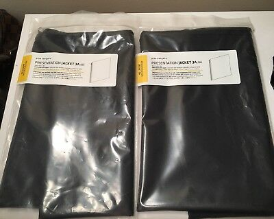 2 PINA ZANGARO PRESENTATION JACKETS FOR 8.5 x 11 PORTFOLIOS-VERY RARE!