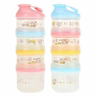 4 Layers Compartment Baby Milk Powder Container Portable Snack Formula Dispenser