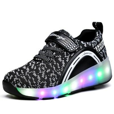 Ships from US, Kids Roller Skate Shoes with Wheel Shoes Sneaker LED & Non-LED