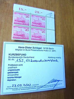 EBS Germany 1952 Heligoland German again; Fisheries Michel 152 MNH** BLOCK 4