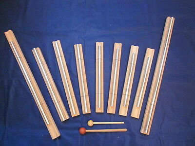 9 Sacred Solfeggio Energy Bar Chimes upto 22 inch long louder than tuning forks