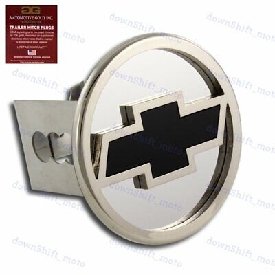 """CHEVROLET CHEVY Stainless Steel CHROME Hitch Cover Cap Plug for 2"""" Tow Receiver"""