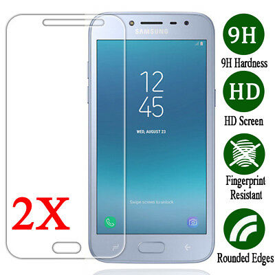 2X 9H Tempered Glass Screen Protector Cover Film For Samsung Galaxy J2 Pro 2018