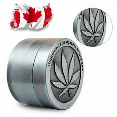 Tobacco Herb Grinder Spice Herbal Alloy Smoke Crusher 4 Piece Chromium Canada
