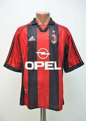 Ac Milan Italy 1998/1999/2000 Home Football Shirt Jersey Maglia Adidas M Adult