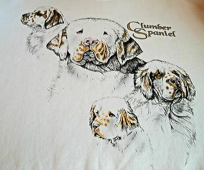 "Clumber Spaniel Sweatshirt  "" White "" XL ( 46 ~ 48 )"