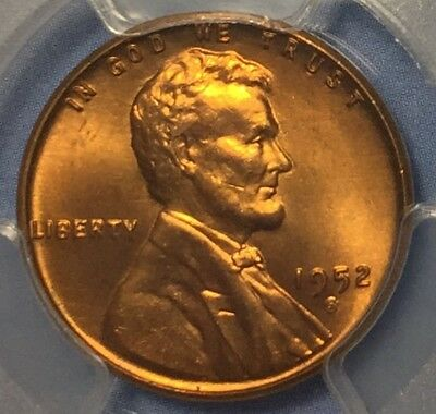 1952-S 1C Lincoln Wheat Cent PCGS MS66+RD