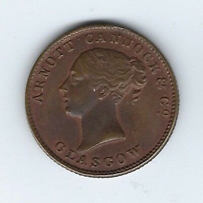 SCOTLAND Glasgow Unofficial Farthing Arnott Cannock & Co Inv 2965