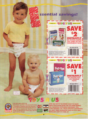 1994 Toys R Us print ad - Diapers - Pampers Huggies Ultratrim Pull-Ups - 1 page