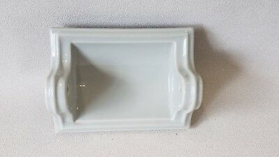BA-419 Vintage Ceramic Bathroom Light Gray Toilet Paper Holder Art Deco AI