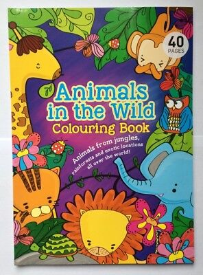 Childrens Colouring Book Animals in the Wild