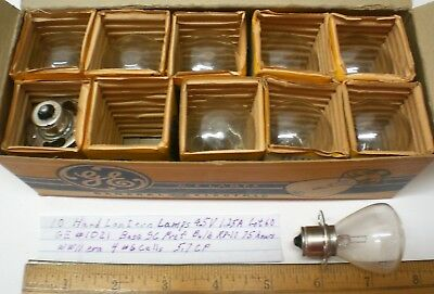 10 Vintage Lantern Lamps, 4.5V  1.25A , GE # 1021, In Original Box, Lot 60, USA