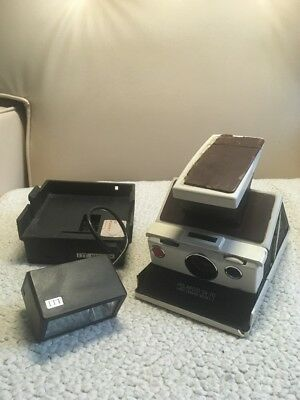Polaroid SX-70 Model 2 Land Camera (White) with Flash | Vintage | AS-IS Untested