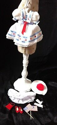 """2001 Tonner Tiny Betsy McCall Stars and Stripes 8"""" Doll OUTFIT DRESS, HAT 11 PCS"""