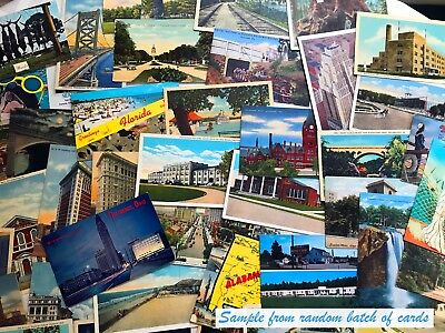 Antique and vintage postcards - random lot of 20 - from the United States (1920s