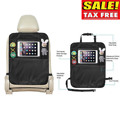 Child Car Seat Protector Organizer Kick Mat Storage Cover Auto Back for Tablet