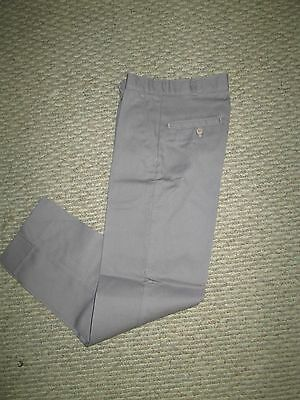 Mens Boys Pants gray uniform pleated 36 38 40 42 x 31 32 NEW USA school work