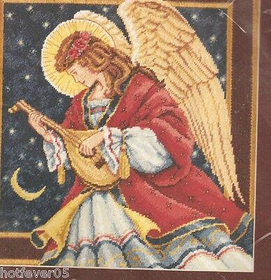 Dimensions Melodic Angel, Christmas,Needlepoint Kit Mpn 2437, Himsworth, Sealed